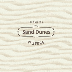 Vector seamless sand texture background with natural waves.