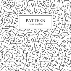 Curve seamless pattern.