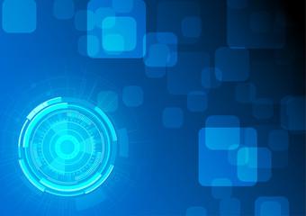 Vector blue technology background vector design