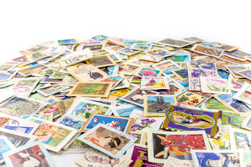 Postage stamps from different countries and times
