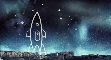 Rocket cartoon image