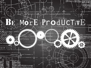Be More Productive Blackboard Tech Drawing