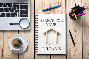 Search For House or Flat, Real Estate Concept