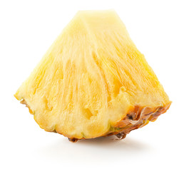 pineapple slice isolated on a white background