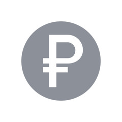 Ruble sign icon