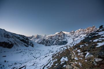 On a way to Renjo La pass in Everest region in Nepal