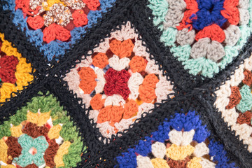Granny square - detail in close up view