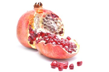 Wall Mural - pomegranate segment isolated on white background cutout