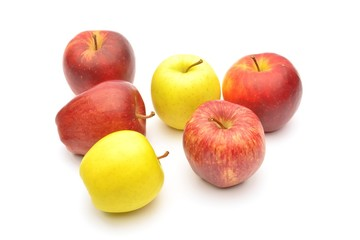 Wall Mural - Apple. Isolated over white background