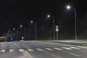night road with modern streetlight Fotomurales