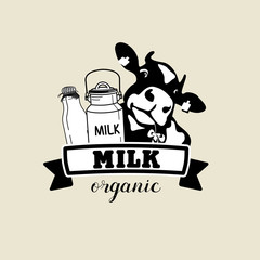 The emblem of the cow and the milk.