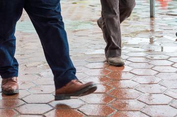 People walking in the street