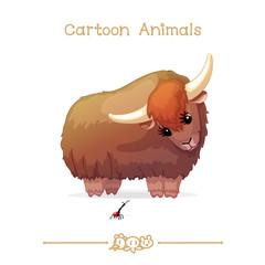 Toons series cartoon animals: yak and giraffe weevil