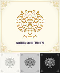 Vintage luxury logo emblem. Elegant Calligraphic vector symbol
