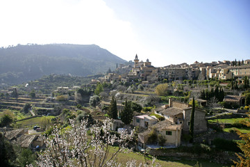 View of Valldemossa, Majorca, Balearic Islands, Spain, Europe