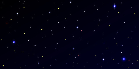 Panoramic view of night starry sky. 2