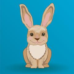 Cartoon rabbit charackter