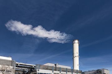 Fabrik Rauch Schornstein