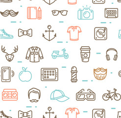 Hipster Pattern Background. Vector