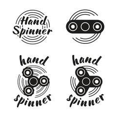 Hand Spinner emblems. Vector illustration on white background