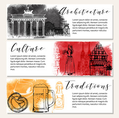 Germany vector background. Card design