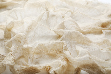 Beige gauze fabric background