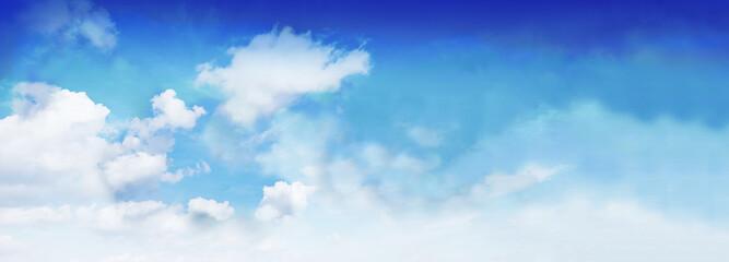 Himmel mit Wolken - Banner / Hintergrund - Panorama