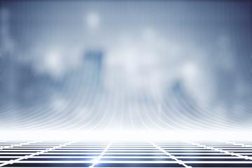 Blue grid lines