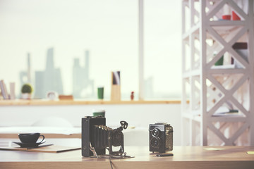 Two retro cameras