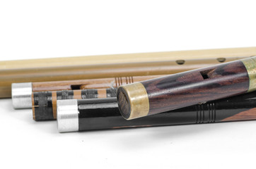 set of Thai Flutes are made from wood, Thailand