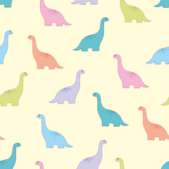 Dinosaur. Vector baby seamless pattern