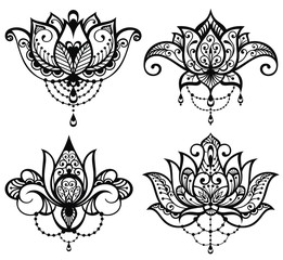 Lotus tattoo set
