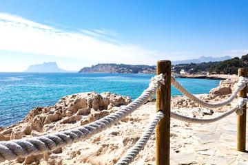 Obraz mediterranean coast from Moraira coastline - fototapety do salonu