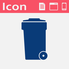 icon of trash can