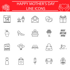 Set of mother's day icons