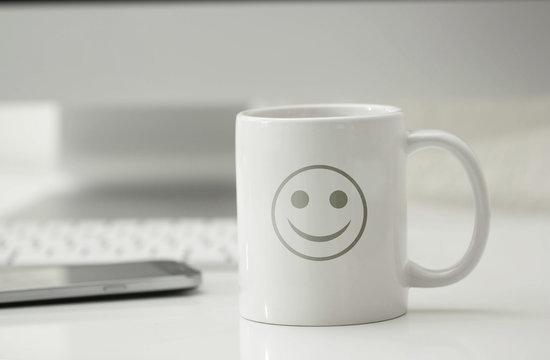 tazza, risveglio, ottimismo, felicità