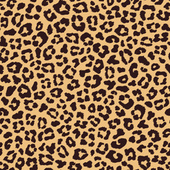 Leopard seamless pattern, beige brown color