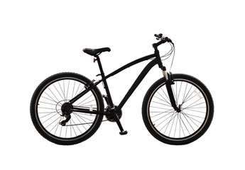 Bicycle or mountain bike isolated on white background
