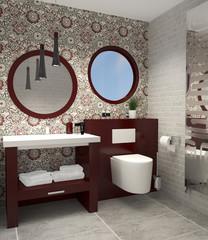 Gäste-WC kleines WC Toilette Bad klein