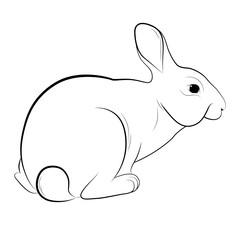 Силуэт кролика, символ пасхи