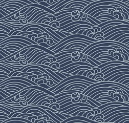 Japanese traditional pattern. Aranami. 荒波.