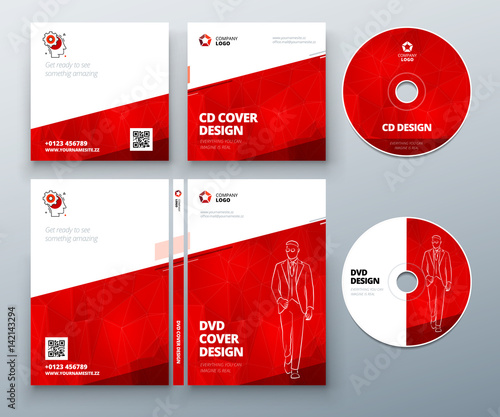 cd envelope dvd case design red corporate business template for cd