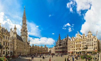 Spoed Fotobehang Brussel The Grand Place in Brussels