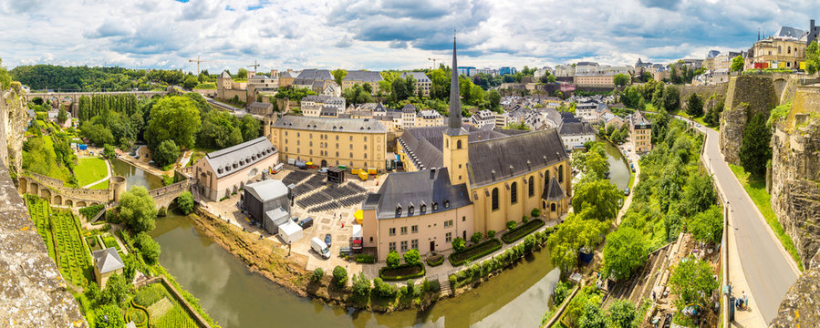 Panoramic cityscape of Luxembourg