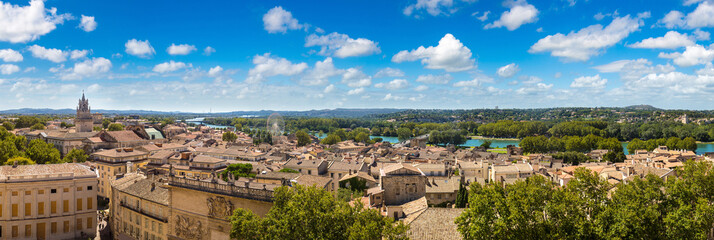 Panoramic aerial view of Avignon