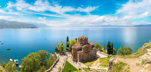 Fotomurales - Jovan Kaneo church in Ohrid, Macedonia