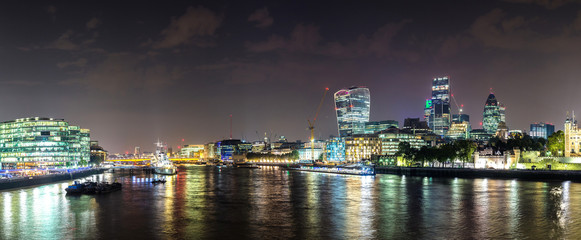 The Shard in London at  night