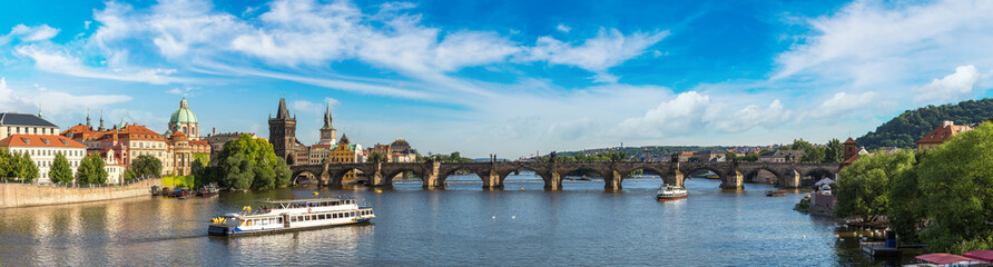Aluminium Prints Prague Panoramic view of Prague