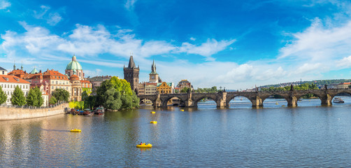 Poster Praag Panoramic view of Prague