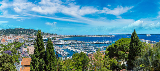 Panoramic view of  Cannes
